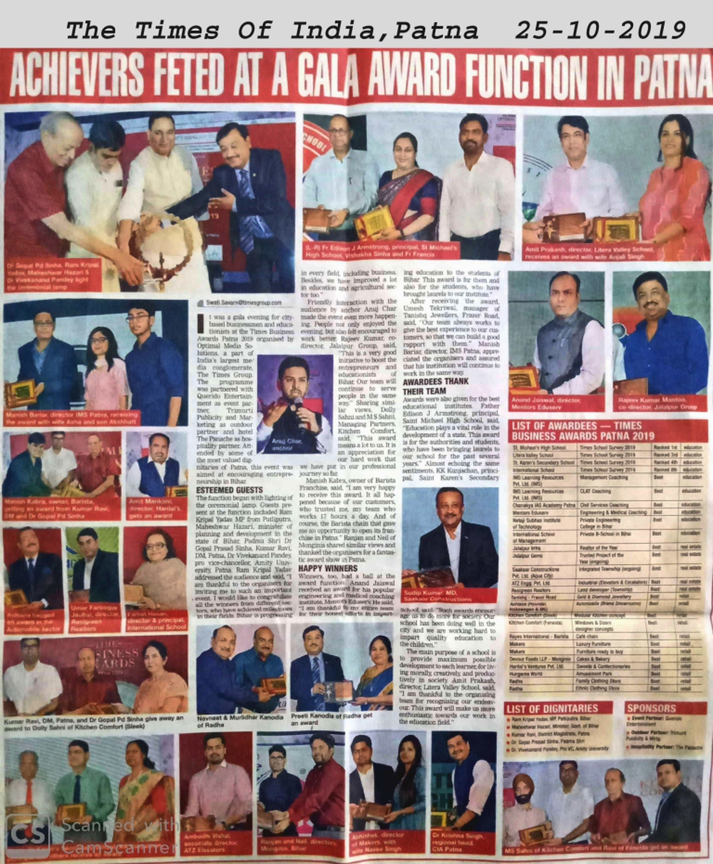 Achievers Feted at a Gala Award Function in Patna